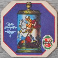Sous-bock BECK'S Edle Frinkgefasse Ansbacher Fayence Walzenkrug Um 1730 4 (cheval) Bierdeckel Bierviltje Coaster (CX) - Sous-bocks