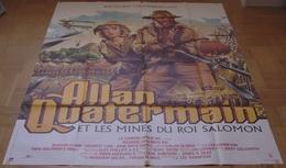 AFFICHE CINEMA ORIGINALE FILM ALLAN QUATERMAIN ET LES MINES DU ROI SALOMON CHAMBERLAIN STONE 1985 - Affiches & Posters