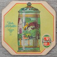 Sous-bock BECK'S Edle Frinkgefasse Jagdhumpen Hessen 1669 1 Bierdeckel Bierviltje Coaster (CX) - Sous-bocks