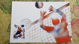 Stockholm Stamp.  Sydney Olympic Games. OLD Postcard 2000 - BEACH  VOLLEYBALL. - Volleyball