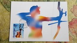 Stockholm Stamp.  Sydney Olympic Games. OLD Postcard 2000 - Arch - Archery - Tir à L'Arc