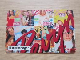 15 Markeringar Chip Phonecard, Vecko Revyn,37000 Pieces, Looks Mint - Zweden