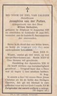 Josephine Van Der Putten, Stiphout Schijndel, 1857-1917, Geh Verkuijlen - Devotion Images