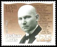 745 - Estonia - 2012 - 125th Birth Anniversary Of Writer Oskar Luts - 1v - MNH - Lemberg-Zp - Estonie