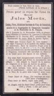 Jules Meeus, Emma Flore Ghislaine Baronne De Vicq De Cumptich, Louvain Ginneken, 1839-1917 - Devotion Images