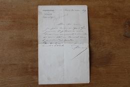Lettre Autographe   Louis Andrieux Homme Politique XIX - Autografi