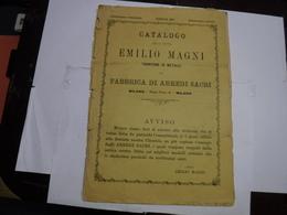 MILANO   --  DITTA  EMILIO MAGNI   -- FABBRICA E CATALOGO    DI ARREDI SACRI - Italia