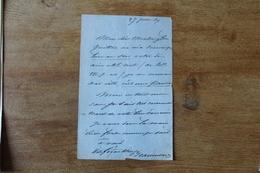 Lettre Autographe  Elie De Beaumont   Géologue Français   Calvados - Autógrafos