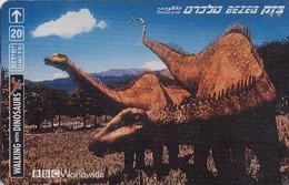 TARJETA TELEFONICA DE ISRAEL. (DINOSAURIOS) Brachiosaurus. BZ-270. (080) - Telefoonkaarten