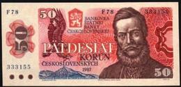50 Korun 1987 Checoslovaquia, UNC - Tsjechoslowakije