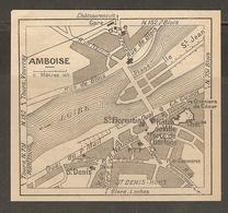 CARTE PLAN 1948 - AMBOISE - GRENIERS De CÉSAR - Topographical Maps