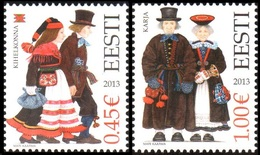 758 - Estonia - 2013 - Folk Costumes Kihelkonna And Karja - 2v - MNH - Lemberg-Zp - Estonie