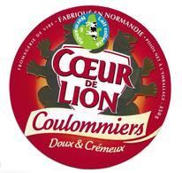 ETIQUETTE De FROMAGE Cartonnée...COULOMMIERS Fabriqué En NORMANDIE..Coeur De Lion..Fromagerie De VIRE (14) - Fromage