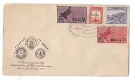 Pakistan 1961 FDC DECIMAL COINAGE Over Printed Stamps On The Cover. - Pakistan