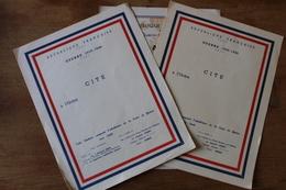 3 Citations Guerre 1939 1945  A Remplir - 1939-45