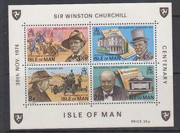 Isle Of Man 1974 Sir Winston Churchill M/s ** Mnh (47948) - Man (Eiland)