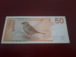 NETHERLANDS ANTILLES 50 GULDEN BIRD SERIES PICK 25b KEY DATE 1990 - Antilles Néerlandaises (...-1986)