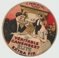 "Etiquette Fromage: JPM :   Camembert  : C. Perceval , New York  "" L ' élite "" - Fromage"
