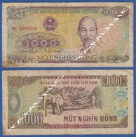 VIETNAM VIET NAM 1000 Dong 1988 HO CHI MINH And ELEPHANT PULLING LUNBER - Vietnam
