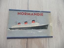 Plan à Système Paquebot Normandie 3 Volets Cie Transatlantique - Bateaux