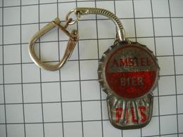 1091 Porte Clefs Biére  AMSTEL Pils  Casquette Capsule      Original - Schlüsselanhänger