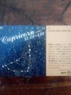 JAPON JAPAN ZODIAC ZODIAQUE CAPRICORNE CAPRICORN 105U UT - Zodiac