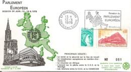 FRANCE / ENVELOPPE  PARLEMENT EUROPEEN SESSION DE JUIN 1978 - Comunità Europea