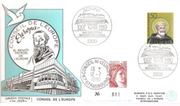 FRANCE / ENVELOPPE ALLEMAGNE FDC EUROPA 1980 SAINT BENOIT - 1982