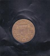 Monnaie REUNION Pièce De 20frs, Bronze De 1945 - Argus: Monnaies Du Monde J.L. THIMONIER - Réunion