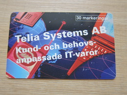 30 Markeringar Chip Phonecard, Telia System, 3500 Pieces,used - Zweden