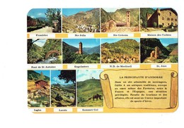 Cpm - Andorre ANDORRA - Parchemin STE JULIA COLOMA Frontière Ingles Engolasters Pont St Antoine - Andorra