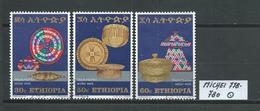 ÄTHIOPIEN MICHEL 778 - 780 Gestempelt Siehe Scan - Ethiopie