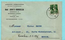 N°340 Op Kaart, Afst. ROESELARE 09/01/1936 - 1932 Ceres Y Mercurio