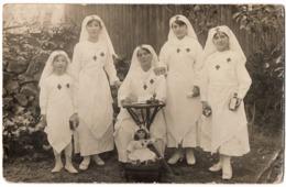 Andouillé 1917 Hôpital Militaire Fillette Infirmière Poupée Carte Photo - ETAT ! - France