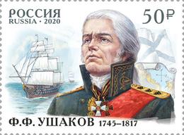 Russia 2020 Adniral Ushakov Stamp MNH - Unused Stamps