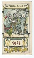 """CALENDRIER 1917 """" Aux Poilus De La 60 Eme """" ILLUSTRATEUR  Félix Jobbé Duval  TRES BON ETAT  (rare) - Calendriers"""