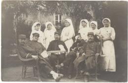 Andouillé C.1916 Hôpital Militaire Infirmière Carte Photo - France