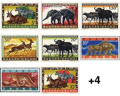 Ref. 28682 * MNH * - RWANDA URUNDI. 1959. FAUNA . FAUNA - Ruanda-Urundi