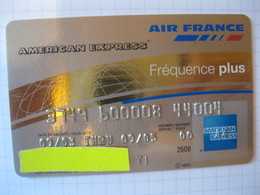 Télécarte Air France American Express Or - Credit Cards (Exp. Date Min. 10 Years)