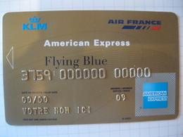 Télécarte Air France American Express Flying Blue Or - Carte Di Credito (scadenza Min. 10 Anni)