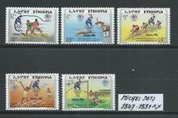 ÄTHIOPIEN MICHEL SATZ 1547 - 1551 Postfrisch Siehe Scan - Ethiopie