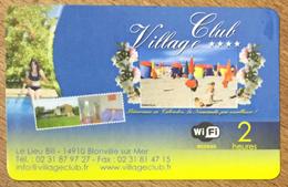 14 BLONVILLE SUR MER CLUB VILLAGE PASSMAN CARTE 2H PRÉPAYÉE PREPAID PHONECARD - Prepaid-Telefonkarten: Andere