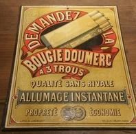 Montauban (82 Tarn Et Garonne) Carton Chromolithographié  BOUGIES DOUMERC - Advertising