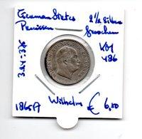 GERMAN STATES PRUISSEN  2 1/2 SILBERGROSCHEN 1865A ZILVER  WILHELM - Groschen & Andere Kleinmünzen
