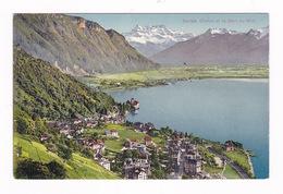 Joli CPA Coul. Territet, Chillon, Dent Du Midi, Suisse - VD Vaud