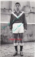PHOTO ANCIENNE AUTOGRAPHE DÉDICACE CASIMIR NOWOTARSKI  FOOTBALLEUR FOOTBALL LILLE GIRONDINS DE BORDEAUX - Calcio