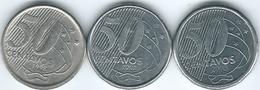 Brazil - Cruzeiro - 50 Centavos - 1998 (KM651) 2002 (KM651a) & 2003 (KM651a.1) - Brésil