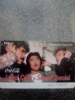 JAPON JAPAN COCA COLA SOUND SPECIAL CARTE NUMEROTEE KDD 50U UT - Alimentación