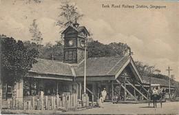 OLD POSTCARD SINGAPORE - TANK ROAD RAILWAY STATION - VIAGGIATA PER ITALIA 1921 - P13 - Singapur