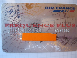 "Télécarte Air France Frequence Plus ""point Mile"" - Carte Di Credito (scadenza Min. 10 Anni)"